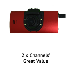 Roadscan 2 channel front/rear dashcam